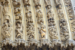 Details of Notre Dame de Paris Cathedral Royalty Free Stock Image