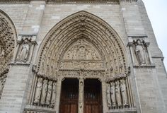 Details of Notre-Dame de Paris royalty free stock photo