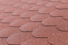 Details od red asphalt shingle Royalty Free Stock Images