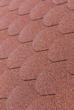 Details od red asphalt shingle Stock Photography