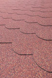 Details od red asphalt shingle Stock Photos