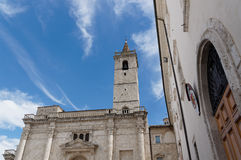 Details Of Architecture, Historical Buildings Of Italy. Ascoli Piceno. Marche. Royalty Free Stock Photography