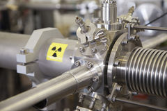 Free Details Of ION Accelerator With Radiation Warning Sign Royalty Free Stock Image - 34483616
