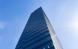 Free Details Of Office Building Exterior. Business Buildings Skyline Looking Up With Blue Sky. Modern Architecture Apartment. High Tech Stock Images - 119742234