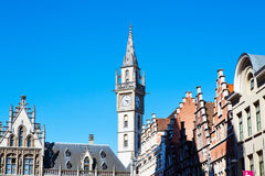 Free Details Of Old Post Office Building With The Clock Tower, Ghent, Belgium Royalty Free Stock Photo - 70040925