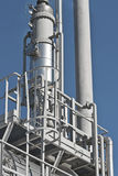 Details of oil refining and gas processing plant Royalty Free Stock Images