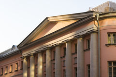 Details of the old building with columns Stock Photography