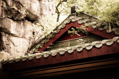 Details of old chinese house roof Stock Photos