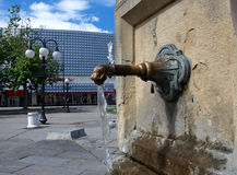 Details of an old city fountain, Zajecar, Serbia Stock Photos