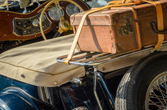 Ready to go. Details of an old-fashioned car royalty free stock photo