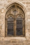 Ancient window of the cathedral of Toledo Spain Stock Photography