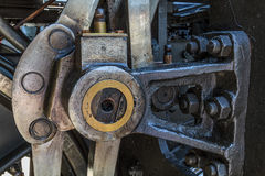 Details of old greasy machinery Stock Photos