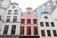 Details of old houses in Brussels, Belgium. Stock Images