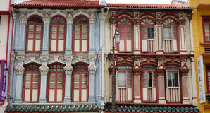 Details of old houses in Singapore Stock Image