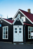 Details of old icelandic architecture at downtown of Reykjavik Royalty Free Stock Photography