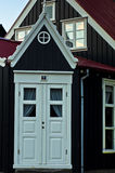 Details of old icelandic architecture in downtown of Reykjavik Royalty Free Stock Image