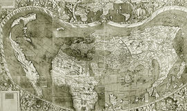 Details on old map Royalty Free Stock Images