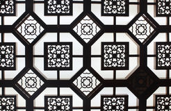 Details of old ornamental Ceiling in Beijing, Chin Royalty Free Stock Image