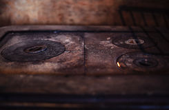 Details of an Old Oven Stock Photo