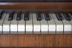 Details of an old piano Royalty Free Stock Photo