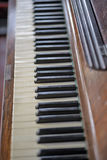 Details of an old piano Stock Image