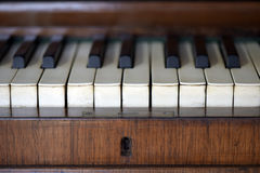 Details of an old piano Royalty Free Stock Photography