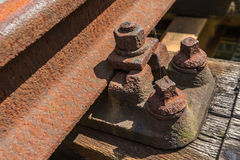 Details of an old railroad Stock Images