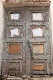 Details of old ruined door Stock Images