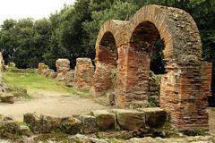 Details Of The Old Ruins At Cumae Stock Photo