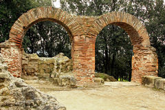 Details Of The Old Ruins At Cumae Royalty Free Stock Photos