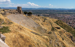 Details of the old ruins at Pergamum Royalty Free Stock Images