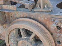 Details of old rusty locomotives close-up, texture royalty free stock image