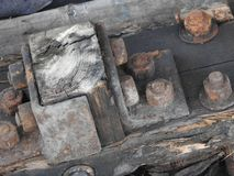 Details of old rusty locomotives close-up, texture stock photos
