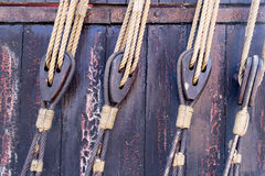 Details of an old sailing boat Royalty Free Stock Photos