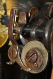 Details of old Singer sewing machine close-up Stock Images