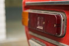 Details of Old Soviet car. From the early 20th century royalty free stock image