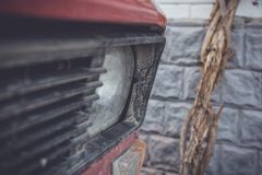 Details of Old Soviet car. From the early 20th century stock photo
