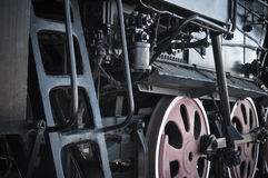 Details of an old steam locomotive. A close up Stock Images