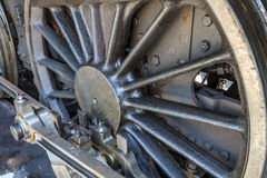 Details of old steam locomotive. / engine in railway museum Royalty Free Stock Photography