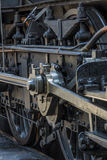 Details of old steam locomotive. / engine in railway museum Royalty Free Stock Photo