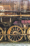 Details of an old steam locomotive. Close up wheels Stock Photos