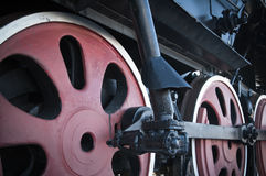 Details of an old steam locomotive, a closeup Royalty Free Stock Images