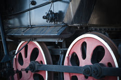 Details of an old steam locomotive, a closeup. Details of an old steam locomotive, a close up Stock Photography