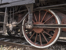 Details of an old steam locomotive Royalty Free Stock Photo
