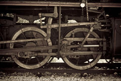 Details from an old steam train Stock Image