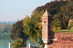 Details old stone fortress Kalemegdan in Belgrade Royalty Free Stock Image
