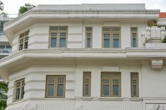Old buildings in Singapore royalty free stock photo