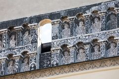 Details of the old tenement house in Presov, SLovakia. Presov, Slovakia. 09 AUGUST 2015. Detail on the one of the houses on main square in Presov, Slovakia Stock Photo
