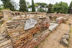 Details in the old town of Ostia, Rome, Italy Stock Photo