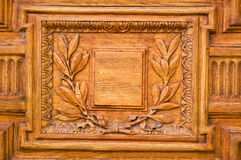 Details of the old wooden door Royalty Free Stock Photo